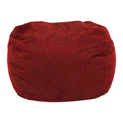 Comfort Research - BeanSack Ultra Cinnabar Red Microfiber Suede Lounge Bean Bag Chair - Add comfortable and casual extra seating to any room with this vibrant red beanbag chair. The microsuede cover is durable and easy to clean, and the polystyrene bean fill provides a cozy seat perfect for reading, gaming, or watching movies.