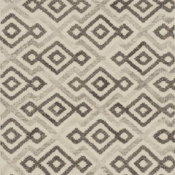 """Loloi Rugs - Loloi Rugs Akina Collection - Ivory / Grey, 9'-3"""" x 13' - Hand woven in India, the Akina Collection sets a rugged and worldly foundation. Each piece is deliberately crafted with textural highs and lows, accentuating the all-over geometric pattern. And because Akina is woven of 100% wool, each piece is naturally durable and fitting for your most high traffic room."""