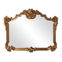 Avondale Gold Ornate Mirror - 39W x 48H in. - About the Howard Elliott Collection.The Howard Elliott Collection is one of the premiere manufacturers of decorative mirrors and accessories in the home furnishings industry. Howard Elliott offers innovative designs in a wide variety of styles, and the company prides itself on its high standards and quality. No matter your style, the Howard Elliott Collection offers pieces that are sure to add sophistication and luxury to your decor.In the company's meteoric rise, it now ships to nearly 3,500 furniture, home furnishings, and lighting retailers as well as many of the top contract companies servicing the hotel and building industries worldwide.