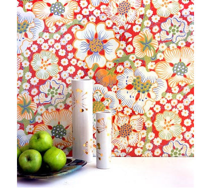 "Eclectic Wallpaper Country Swedish Josef Frank ""Eldblomman"" wallpaper"