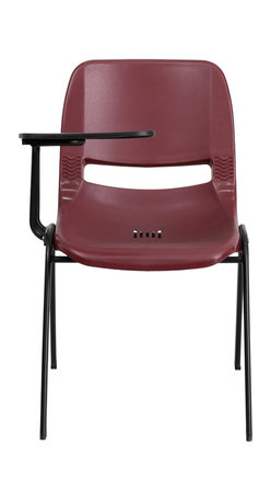 Flash Furniture - Flash Furniture Tablet Arm Chairs Tablet arm chairs X-GG-BATR-YB-1OE-TUR - This is the perfect tablet arm chair for any classroom or training room setting. The simplistic design makes this Flash Furniture Tablet Arm Chair a versatile and welcomed addition to your school or in the home. This chair features a comfort-formed back and contoured seat with waterfall front. Along with a comfortable sitting experience you get the added security that this chair will endure the test of time. [RUT-EO1-BY-RTAB-GG]