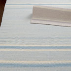 "Safavieh - Safavieh ""Mikko"" Flatweave Rug - We love flatweave rugs for their durability, easy care, and good looks. This one achieves balance with a repeating pattern of wide and narrow stripes in varying shades. Handwoven of wool. Select color when ordering. Sizes are approximate. Imported...."