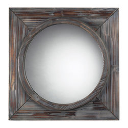 Sterling - Sterling 116-002 Reclaimed Wood Finish Wall Mirror - Sterling 116-002 Reclaimed Wood Finish Wall Mirror