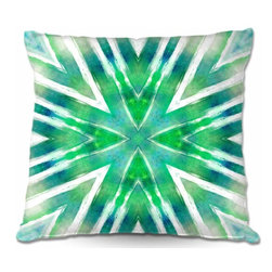 DiaNoche Designs - Pillow Woven Poplin - Batik Mandala See Colors - Toss this decorative pillow on any bed, sofa or chair, and add personality to your chic and stylish decor. Lay your head against your new art and relax! Made of woven Poly-Poplin.  Includes a cushy supportive pillow insert, zipped inside. Dye Sublimation printing adheres the ink to the material for long life and durability. Double Sided Print, Machine Washable, Product may vary slightly from image.