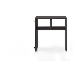 NYFU - Chelsea Side Table-Smoke - Flip this side table for a different look that will make friends think it's another piece of furniture.