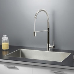 Ruvati - Ruvati RVC2327 Stainless Steel Kitchen Sink and Stainless Steel Faucet Set - Ruvati sink and faucet combos are designed with you in mind. We have packaged one of our premium 16 gauge stainless steel sinks with one of our luxury faucets to give you the perfect combination of form and function.