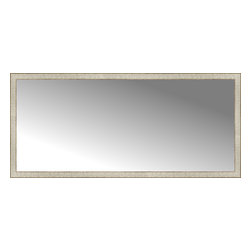 """Posters 2 Prints, LLC - 71"""" x 32"""" Libretto Antique Silver Custom Framed Mirror - 71"""" x 32"""" Custom Framed Mirror made by Posters 2 Prints. Standard glass with unrivaled selection of crafted mirror frames.  Protected with category II safety backing to keep glass fragments together should the mirror be accidentally broken.  Safe arrival guaranteed.  Made in the United States of America"""