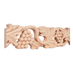 Hardware Resources - Basswood Traditional Mouldings - 4In. x 1In. Hand Carved Moulding Species: Basswood