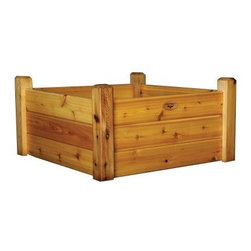 Gronomics Cedar Three Tier Raised Garden Bed - Designed so you can easily separate your vegetables, plants, and flowers, the Gronomics Cedar Three Tier Raised Garden Bed comes in your choice of size so you can easily choose the perfect size for your patio or yard. Featuring tool free assembly, this garden bed is handcrafted in the USA from 100% western red cedar and comes in your choice of 100% tung oil finish, which is safe for food contact.Additional FeaturesHandcrafted in the USAIncludes a 1 year warranty