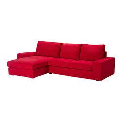 Ola Wihlborg - KIVIK Loveseat and chaise lounge - Loveseat and chaise lounge, Ingebo bright red