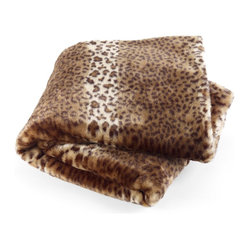 Faux Fur Throw, Leopard