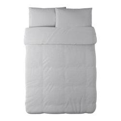 Kristina Pihl - ALVINE STRÅ Duvet cover and pillowcase(s) - Duvet cover and pillowcase(s), white