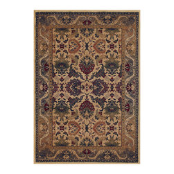 """Couristan - Anatolia Royal Plume Rug 2715/0706 - 9'8"""" x 13'1"""" - Traditional area rug designs, such as Anatolia's Persian floral motifs, are the perfect way to give formal living areas, like dining rooms, a warm, inviting feel. The deep hues of cranberry red and navy blue add a luxurious touch that is inherently elegant."""