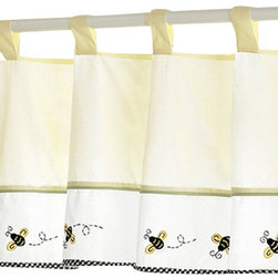 "Sweet Jojo Designs - Bumble Bee Valance - The Bumble Bee Valance by Sweet Jojo Designs is a gorgeous window treatment that will add a designer's touch to any nursery. This valance softens the look of the window and obscures pulled up blinds. It will coordinate nicely with your Sweet Jojo Designs bedding or can be used as an accent with your own room design.The valance dimensions are 84"" x 15""."