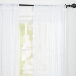 Voile Pole Pocket Drape, White - One of the details I love most in sunrooms are windows covered in sheer curtains. It looks so light and airy.