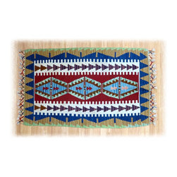 Rustic Wool Turkish Kilm Rug - Turkish kilims are beautifully crafted art with vibrant, rich colors that add warmth & culture to any room of your home. Turkish kilim symbols and motifs are a nomadic form of human expression, a language, that once deciphered, tells us something about a carpet weaver's life story at that point in time when the carpet was woven. Each carpet, therefore, is a unique piece of art and a page out of history from a nomad's life.  Turkish kilims can be used creatively as a wall hanging or thrown over the back of a sofa.
