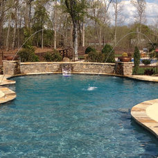 Traditional Pool by Signature Pools & Patios