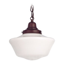 Design Classics Lighting - Bronze Schoolhouse Mini Pendant Light - FB4-220 / GA10 / B-220