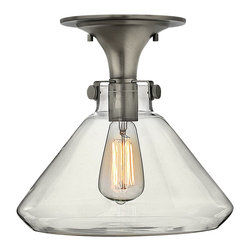 Hinkley Lighting - Hinkley Lighting Congress Traditional Semi Flush Mount Ceiling Light X-NA7413 - Congress is a traditional design that combines both hip and historical elements. This chic retro glass, mix and match collection comes in different shapes, colors and materials and is the perfect vintage accent to any decor.