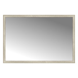 "Posters 2 Prints, LLC - 64"" x 43"" Libretto Antique Silver Custom Framed Mirror - 64"" x 43"" Custom Framed Mirror made by Posters 2 Prints. Standard glass with unrivaled selection of crafted mirror frames.  Protected with category II safety backing to keep glass fragments together should the mirror be accidentally broken.  Safe arrival guaranteed.  Made in the United States of America"