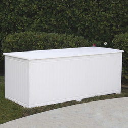 None - Sydney Big Deck Box - The Sydney Deck Box is made of 100-percent Greenwood recycled plastic lumber which makes it impervious to sunlight,water and most chemicals. The Sydney Deck Box is great for holding gardening supplies,pool equipment,car cleaning products and much more.