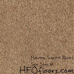 Mohawk Tropical Resort - Mohawk Tropical Resort, Sea Star Trixeta PET blend 12' carpet.