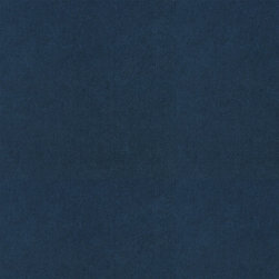 """Ballard Designs - Signature Velvet Indigo Fabric by the Yard - Content: 64% Cotton, 19% Polyester and 17% Rayon. Repeat: Non-railroaded fabric. Care: Dry clean. Width: 56"""" wide. Solid indigo woven in velvety cotton blend. Imported.  .  .  .  . Because fabrics are available in whole-yard increments only, please round your yardage up to the next whole number if your project calls for fractions of a yard. To order fabric for Ballard Customer's-Own-Material (COM) items, please refer to the order instructions provided for each product.Ballard offers free fabric swatches: $5.95 Shipping and Processing, ten swatch maximum. Sorry, cut fabric is non-returnable."""