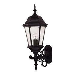 Savoy House - Savoy House 07078-BLK Exterior Collections Wall Mount Lantern - Decorate your favorite outdoor spaces to bring a sense of style Al Fresco!