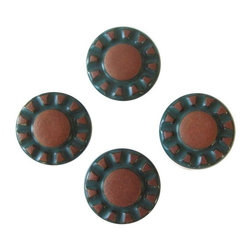 Pre-owned 1930s Spanish Ceramic Drawer Pulls - Set of 4 - Set of four Spanish style large knobs ...