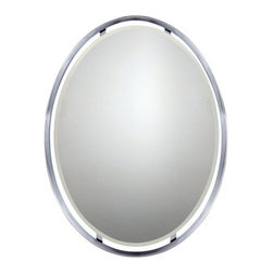 """Quoizel - Quoizel UPRZ43426 Uptown Ritz 34"""" Height Oval Mirror - Add a splash of elegance to your home with this exuberant 34"""" height oval mirror.Features:"""