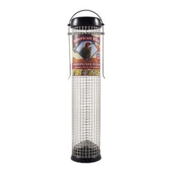Droll Yankees - American Bird Woodpecker Feeder Black 13 inch - American Bird 13 inch Woodpecker Feeder.