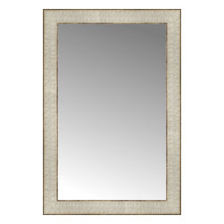 """Posters 2 Prints, LLC - 15"""" x 22"""" Libretto Antique Silver Custom Framed Mirror - 15"""" x 22"""" Custom Framed Mirror made by Posters 2 Prints. Standard glass with unrivaled selection of crafted mirror frames.  Protected with category II safety backing to keep glass fragments together should the mirror be accidentally broken.  Safe arrival guaranteed.  Made in the United States of America"""