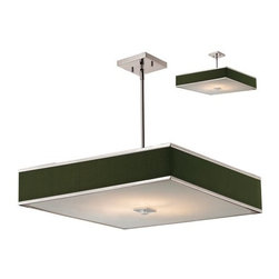 Z-Lite - Z-Lite 197-24 Rego 3 Light Down Light Brushed Nickel Pendant with Black Fabric S - Features: