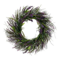 Silk Plants Direct - Silk Plants Direct Lavender Twig Wreath (Pack of 2) - Silk Plants Direct specializes in manufacturing, design and supply of the most life-like, premium quality artificial plants, trees, flowers, arrangements, topiaries and containers for home, office and commercial use. Our Lavender Twig Wreath includes the following: