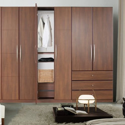 The Designer Collection - This top of the line freestanding wardrobe collection offers the following standard features: