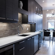 Contemporary Kitchen by Square Footage Custom Kitchens & Bath Inc.