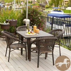 Christopher Knight Home - Christopher Knight Home River 5-piece Outdoor Dining Set - Never again worry about surprise barbecues or outdoor events with multiple guests. Made of environment-friendly synthetic wicker, the River 5pc outdoor dining set is sturdy and stylish.