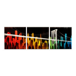 Matthew's Art Gallery - Metal Wall Art Modern Sculpture Summer Night City - Name: Summer Night City