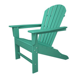 All Weather Adirondack Aruba Outdoor Recycled Plastic Furniture - The perfect chair for relaxation, try this Adirondack chair made from recycled plastic.
