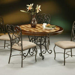 Pastel Furniture - Magnolia 5 Piece Dining Table Set in Autumn Rust - VD510-478- - Set includes Dining Table and 4 Chairs