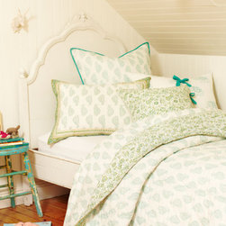 Goa Twin Bedding Set - This block printed bed set is gorgeous.  It looks beyond comfortable and is sure to add a bit of bohemian flair to your home.  I'd love this for my little girl.