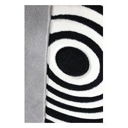 Rug - 3-Piece Black/White/Grey Living Room Area Rugs Set, Geometric & Machine Made - GEO COLLECTION