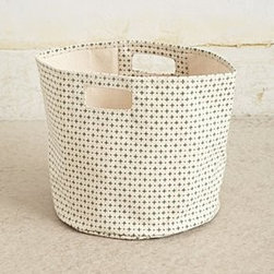 "Pehr - Cross-Dot Canvas Basket - By PehrCotton canvasSpot clean13""H, 12"" diameterImported"