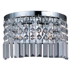 Maxim Lighting - Maxim Lighting 39808BCPC Belvedere Polished Chrome Wall Sconce - 3 Bulbs, Bulb Type: 25 Watt G9 Xenon, Bulbs Included