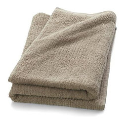 Ribbed Sand Bath Sheet - Broad borders of vertical ribbing with flat banded edges finish our spa-style sand towels in absorbent 500-gram cotton.
