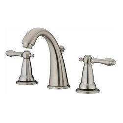 Estora - Wide Spread Lavoratory Faucet - Estora 80-62521-BN Wide Spread Lavatory Faucet PVD Brushed Nickel