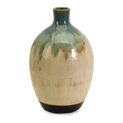 iMax - iMax Lorant Small Vase X-58104 - An unusual shape and distinctive finish give this ceramic vase a one-of-a-kind, artisan look. For a coordinated look purchase matching vases.