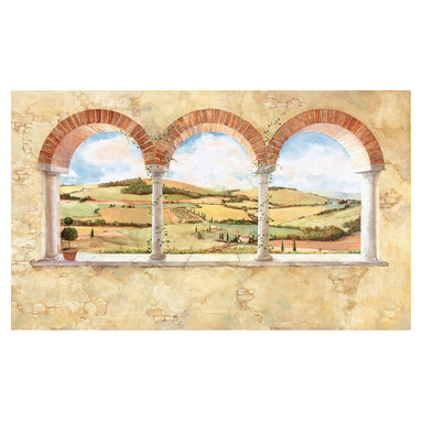 York Wallcoverings - Tuscan View Country Side Giant Wallpaper Accent Mural - Features: