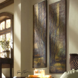 "32147 Tree Panels, S/2 by uttermost - Get 10% discount on your first order. Coupon code: ""houzz"". Order today."