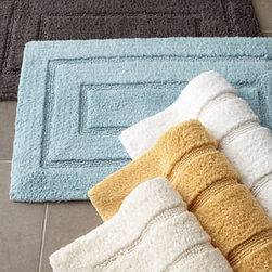 "Kassatex - Kassatex Tufted Cotton Bath Rug, 20"" x 32"" - This luxurious cotton bath rug with thick, absorbent pile and geometric interest is ideal for any bathroom decor. Select color when ordering. Made of Egyptian cotton. 20"" x 32"". Imported."